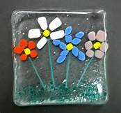 fused glass flower